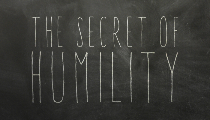SECRET OF HUMILITY